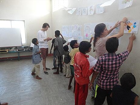 MOTIVATION TO STREET CHILDREN BY SPAIN VOLUNTEERS CHILDREN'S HOME